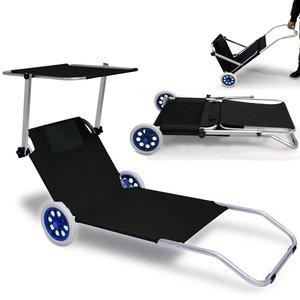 Inklapbare strandstoel met wielen